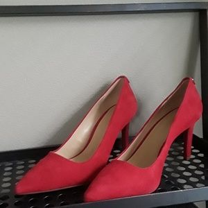 Red Suede Mk Shoes